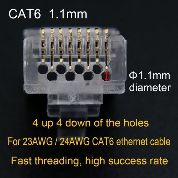 CAT6-3-50pcs-Gold plated 6U