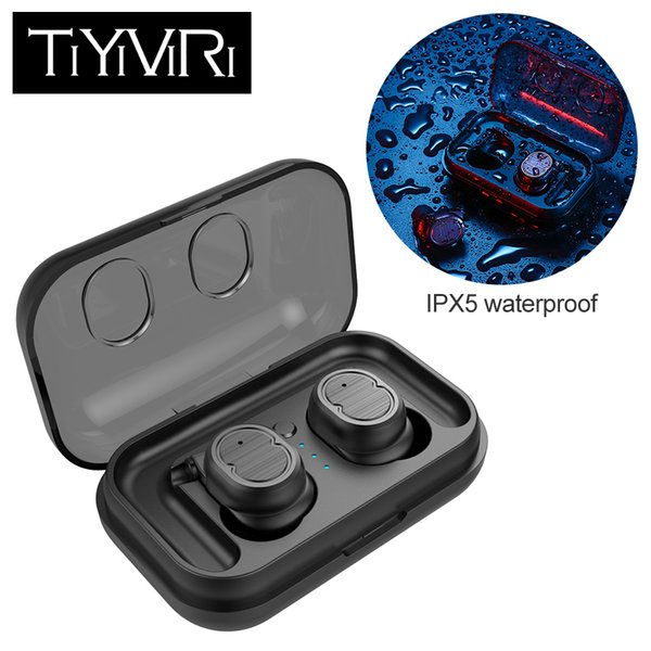 Wireless Headphone Bluetooth 5.0 Earbuds Touch Control True Earphone Mini Waterproof Earphones with Charging Box for Smart Phone