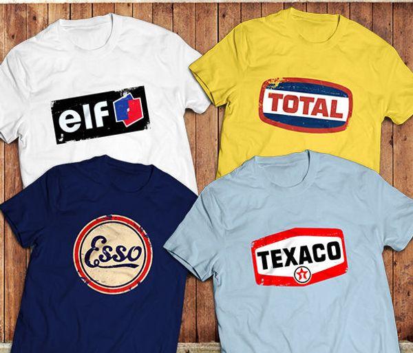 T-shirt pour hommes d'été 2019, gaz rétro, T-shirts avec logo de la marque Petrol, Huile Vintage, 70's, 80's, T-shirt sur mesure de sport automobile,