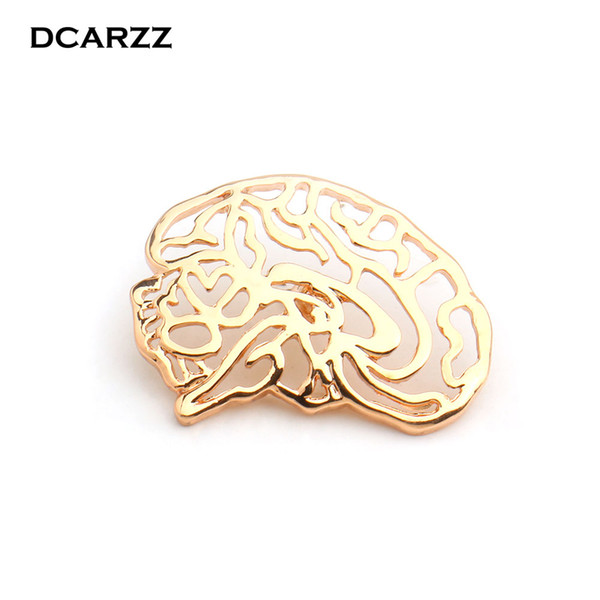 Brain Nerve Anatomy Charm Pin the Metal Badge Brooch Medical Pins for Doctor/Nurse/Neurologist Christmas Gift Jewelry Wholesale
