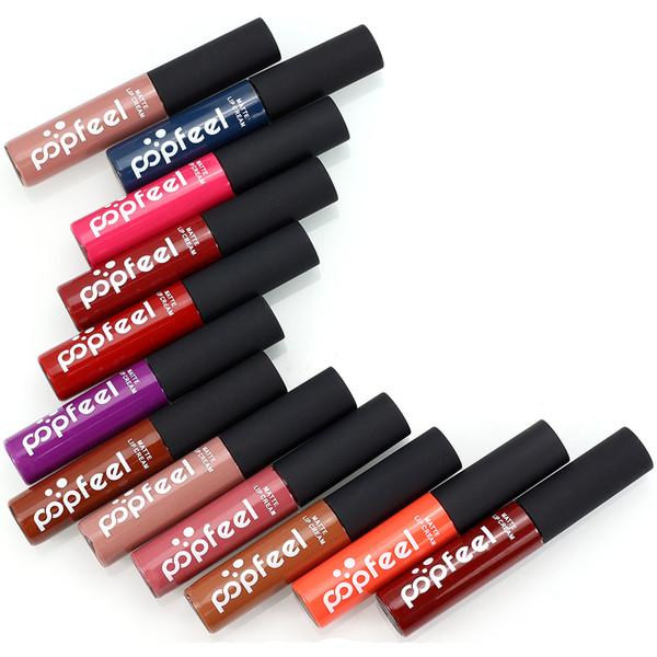 Factory 6 PCS Gloss Liquid Matte Lipstick Professional Makeup Long Lasting Moisturizing No-stick Fade Mate Batom Lipgloss Make Up Kit