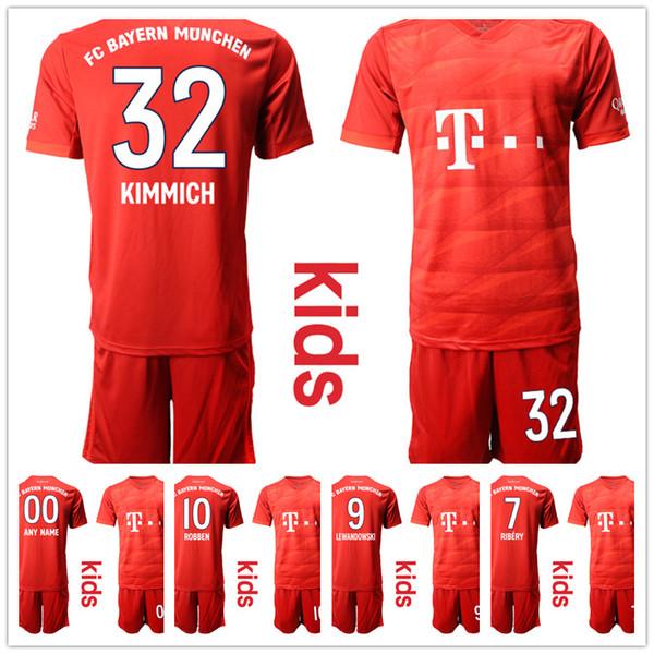 Crianças 19-20 Kits de futebol personalizado Bayern Munique crianças Jersey KIMMICH meninos camisa de futebol juventude Maillots Futebol Enfant Trikot Kinder