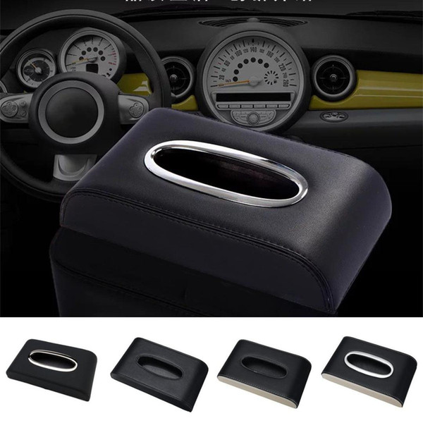 PU Leather Car Tissue Box Cover Napkin Paper Holder Towel Dispenser For Lexus