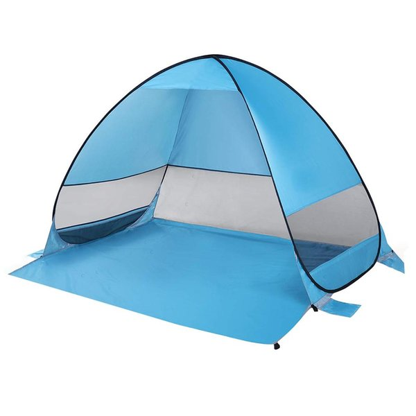 2-3 Person Quick Automatic Opening Beach Tent Anti UV Sun Shelter Awning Folding Tent Pop-up For Outdoor Hiking Camping