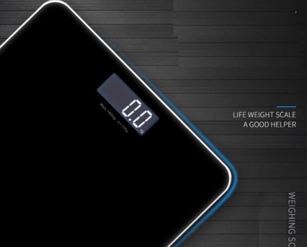 Salle de bain Plancher Échelle Corps numérique Verre Trempé surface balances électroniques affichage LED Keep Fit Body Balance de pesée Balance