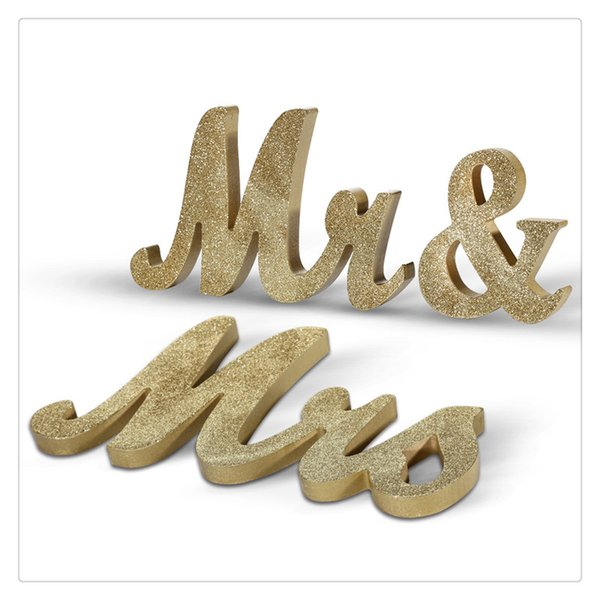 Wooden Letters Wedding Decoration Vintage Style for DIY Decoration Handle Accidental Table Without Falling Over Hot Sale Romantic