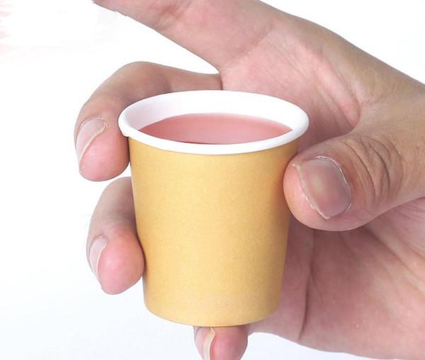 5000 × 2 أوقية / 60 ملليلتر مصغرة ورقة تذوق أكواب أبيض / براون القهوة سوبر ماركت الترويج عينة SN2996 شرب كوب الشاي بالجملة