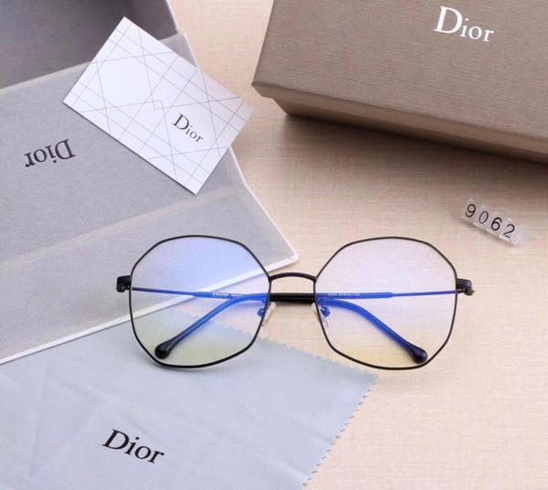 Designer Occhiali da sole Occhiali da sole di lusso Occhiali da vista Marchio D9062 per Uomo Donna Occhiali miopi Occhiali anti-blu Alta qualità con scatola