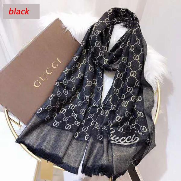 2018 écharpes de marque pour les femmes écharpe design écharpe RT014 2018 coton d'hiver avec la ligne d'or Châle dames écharpes Taille 180x70cm AUCUNE boîte