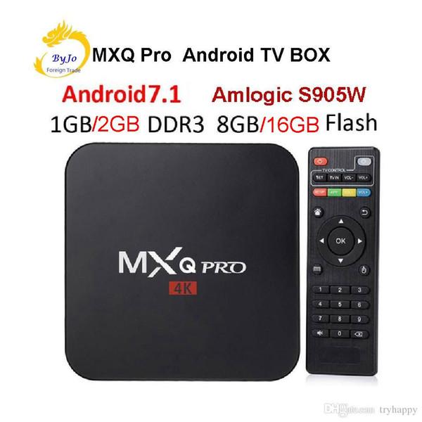 MXQ Pro 4K TV Box Amlogic S905W Quad Core 1G 8G or 2G 16G Android 7.1 Ultra 4K Streaming 4K box Smart TV Media Player Play box