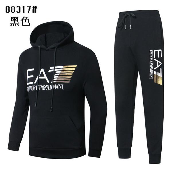 Novo estilo de venda quente dos homens da moda Hoodies fatos de treino homens roupas de golfe esportes casaco + calça de Alta qualidade Moletom casuais calças jaqueta terno