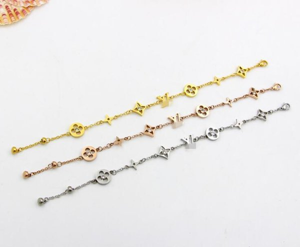 ZHF Jewelry Charm Bracelet Rose Gold For Women and Men Never Fade 15+5 cm Adjustable size Chain Bracelet