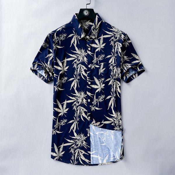 HOT New Crown KING Brand Tag Men's Casual Shirts D005 Summer Fashion Designer Cotton short sleeve Man Lapel T-shirt Italy Dress Shirt tees