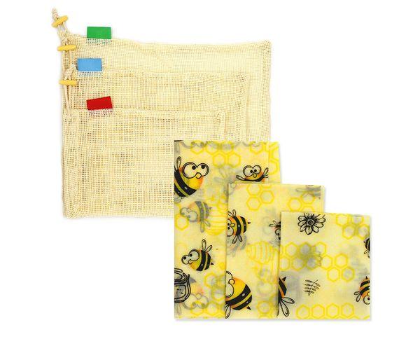 3 * Bienenwachs clothstorage bag-style 2