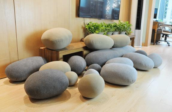 Creative 3D Stone Floor Pillows Stuffed Huge Stone Pillows Floor Cushions  Kids Living Room Decor Stone Pouf Home Decor Seat Cushions For Patio ...