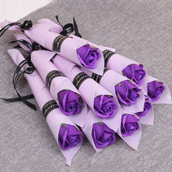 Wholesale Bath Body Rose Flower Soaps Perfect As Wedding Favors Birthday Gifts or Decoration 6 Colors Flower Soap Rose