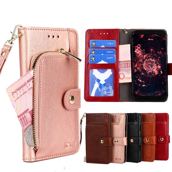 Étui portefeuille en cuir A5 A6 A8 2018 J4 J6 pour Samsung Galaxy J3 J5 J7 2017 A3 Housse portefeuille en cuir Housse J2 J5 J4 J6 Duo