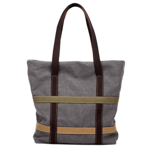 good quality Women's Canvas Handbags High Quality Female Hobos Single Shoulder Bags Vintage Solid Multi-pocket Ladies Tote Bolse
