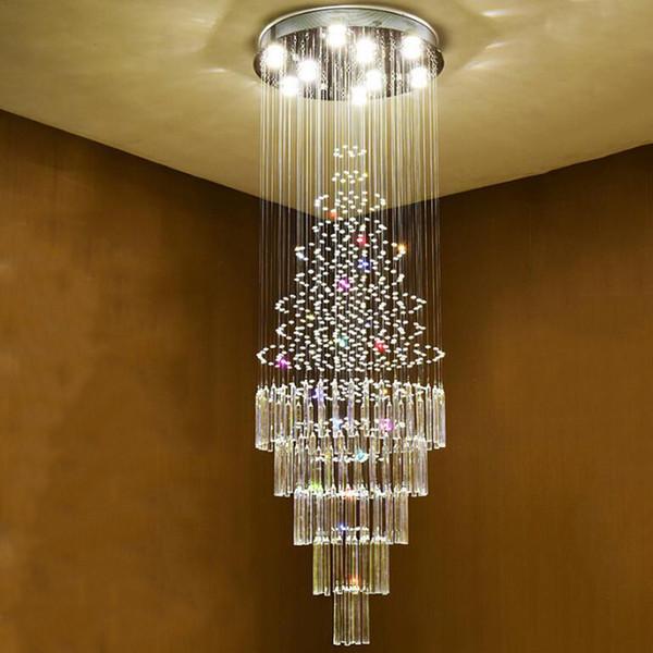 Acheter Escaliers Lustres En Cristal Lustre En Cristal Lumières Modernes  Lampes D\'intérieur Villa De Luxe Loft Lumière Lumière Lampe Décoration  Maison ...