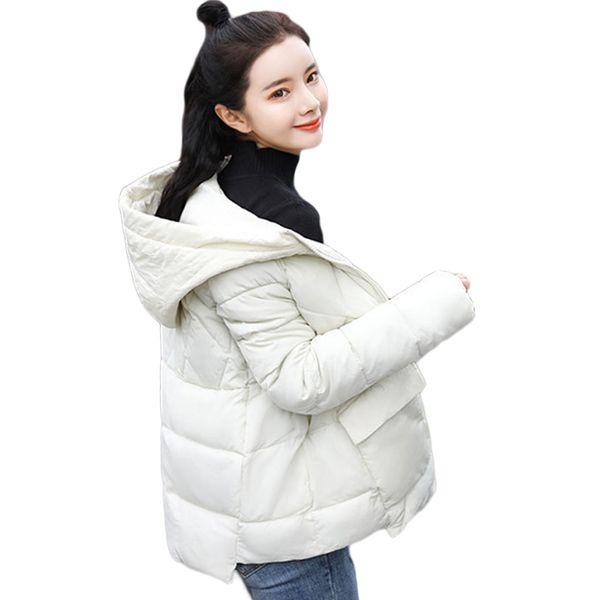 Girls Hooded Parkas Women Winter Jacket Short Down Cotton Padded Womens Coat Winter Jacket Women Solid Parka Jackets D601
