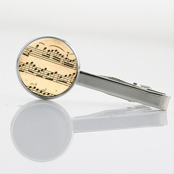 New Elegant Music Sheet Notes Tie Clips Men jewelry vintage Math Pi number Tie pin chemical Molecule formula necktie clip T213