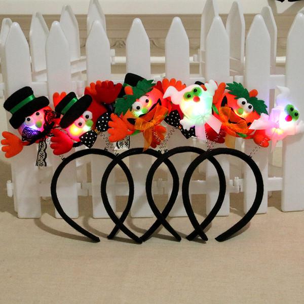 Bebek Cadılar Bayramı Saç ışık yayan kafa bandı kafa dans parti malzemeleri Saç Aksesuarları tokası hediyeler Cadılar Bayramı süslemeleri Sticks