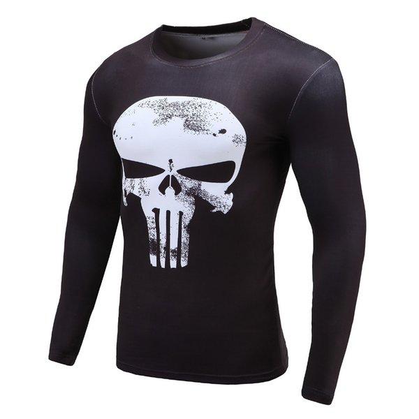 2019 Yeni 3d Baskılı T-Shirt Erkekler Sıkıştırma Gömlek Uzun Kollu Crossfit Spor Bez Erkek Cosplay Maliyeti Tops