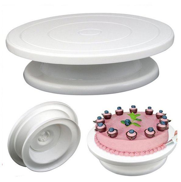 Bricolage Pan Outil De Cuisson En Plastique Plaque De Gâteau Plateau Tournant Anti-dérapant Gâteau Rond Stand Décoration De Gâteau Table Rotative Cuisine