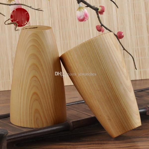 Copos de madeira artesanais chá café copos de água de madeira canecas de moda casa puro presentes naturais