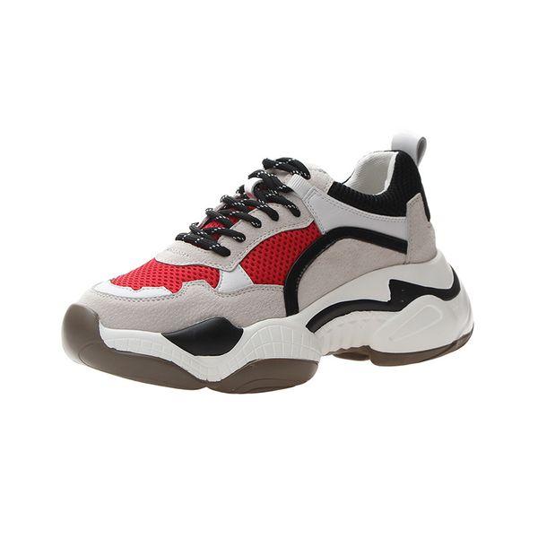 Transpirable Kanye Estilo de tendencia de triple moda Mujeres Zapatos casuales diarios Las chicas jóvenes les gusta la altura de los zapatos de diseñador para entrenadores