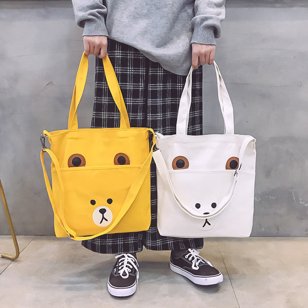 Bolso femenino bolsa cruzada cuerpo femenino 2019 nueva moda estilo de dibujos animados coreano estudiante gran capacidad solo hombro