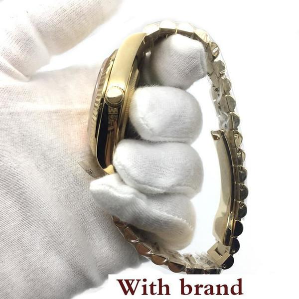 New 18K Gold President DayDate Sapphire Cystal Geneva Men Watches Automatic Mechanical Movement Male Wrist Watches
