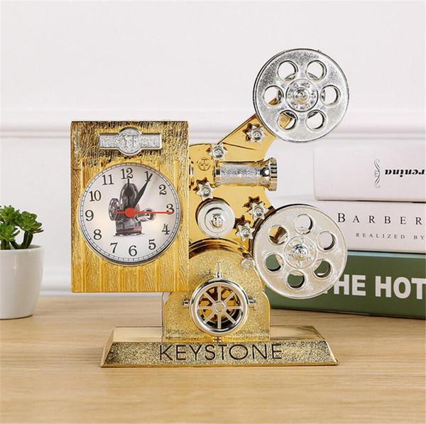 Alarm Clock Classic Retro projector Shape Alarm Clock for Home Decor Bedroom Decoration for Kids Childrens choose A2202c