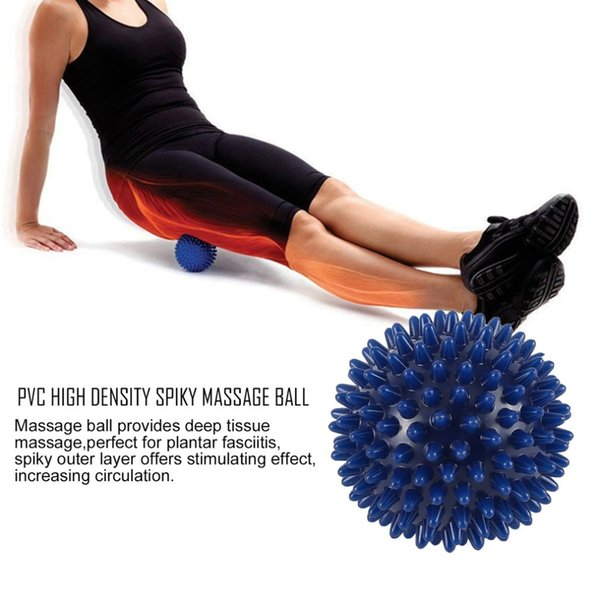 Hot Sale Fitness ball 75mm Durable PVC Spiky Massage Ball Trigger Point Sport Fitness Hand Trustworthy Dripship