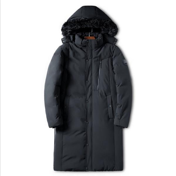 Kalın Termal Aşağı Pamuk Parkas Ceket Erkek Rüzgar Geçirmez Rahat Hoodies Faux Kürk Yaka Sıcak Palto 4XL Kış Erkekler Bombacı Ceket