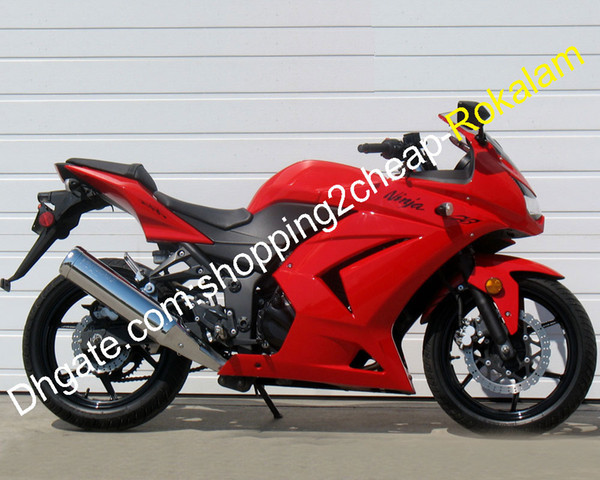 Motorcycle For Kawasaki ZX250 Ninja ZX 250R EX250 EX250R Red Bodywork Fairing Kit 2008 2009 2010 2011 2012 (Injection molding)