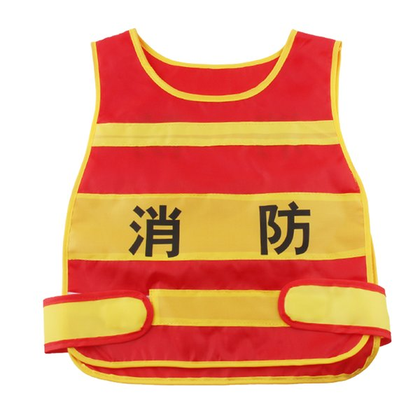 best selling Fireman Vest Roleplay Costume Set For Toddler Boys Kids Ages 2 3 4 5 6 Years