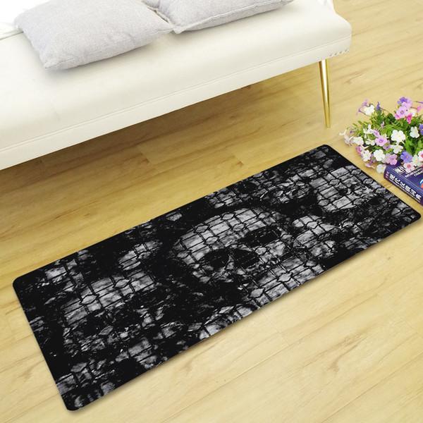Home Entry Long Carpet Living Room Decorative Floor Mats Flannel Non-slip Absorbent Kitchen Rug Bedroom Bedside Foot Mat