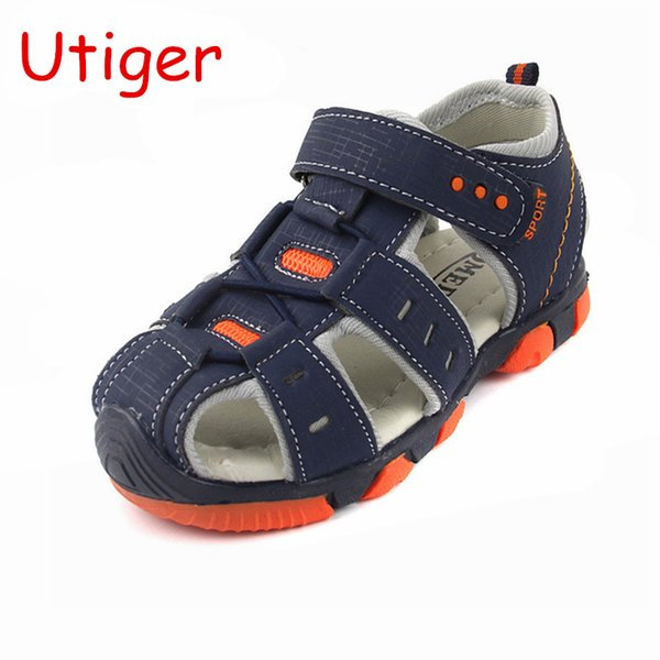 New style Boys Sandals summer Kids Children Boy Shoes cut-out flats sandals kids Children breathable Close toe beach