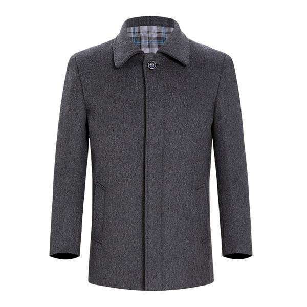 Snow Pinnacle Short Wool Overcoat Casual Men's Wool Blend Suit Collar Coats Full Winter For Male Jacket Overcoat