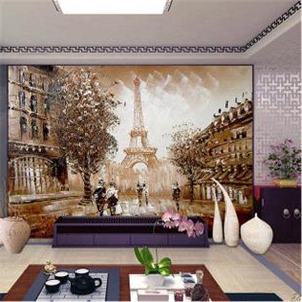 Sorunsuz doğrudan televizyon manzara stereoskopik duvar kağıdı oturma odası TV zemin duvar resimleri 3d