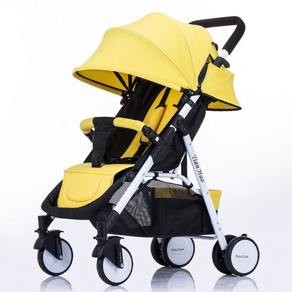 Hohe Landschaft Kinderwagen Folding Tragbare Leichte Kinderwagen Allrad Trolley Carrier Cart Umbrella Kinderwagen