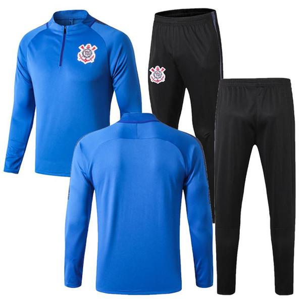 2019 jaqueta de futebol Corinthian Paulista agasalho 19 20 JADSON ROMERO PABLO M.GABRIEL terno de treinamento de manga comprida calças de futebol Kit