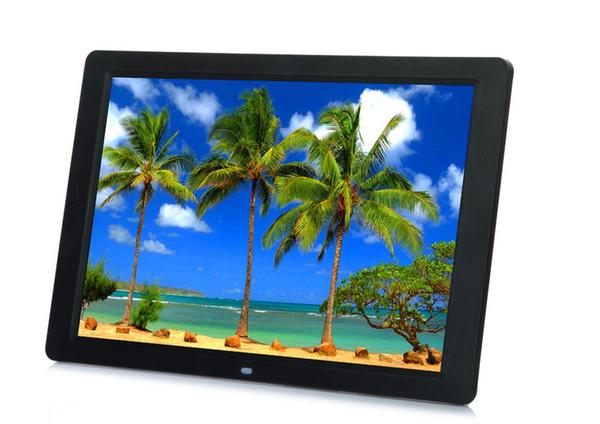 Neuer 15 Zoll ultradünner HD TFT-LCD Digitaler Bilderrahmen Wecker MP3 MP4 Movie Player mit Remote Desktop