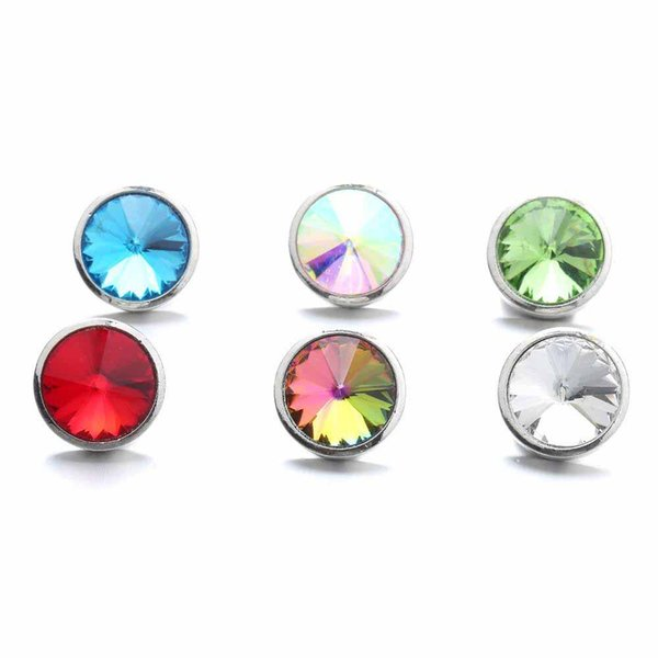 Snap Jewelry Round Rhinestone Snap Button fit 18mm snap button bracelet Necklace Jewelry