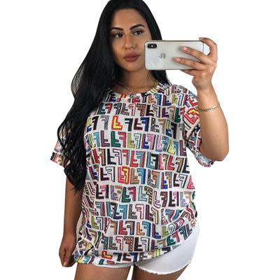 2019 NEW Summer O Neck Short Sleeve Mini Dress Lady Casual Streetwear Loose Vestidos Fashion Printed T Shirts Sundress Robes