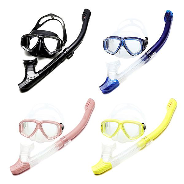 Yeni Dalış Kuru Şnorkel Seti Anti-sis Geniş Clear View Gözlük Yüzme Gözlük Şnorkel Yaz BFE88 için