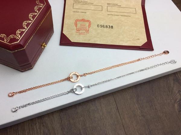 FAHMI Classic LOVE - Petit anneau - Bracelet double couche Original sur mesure - beauté sur mesure - processus de galvanoplastie authentique - or 18 carats