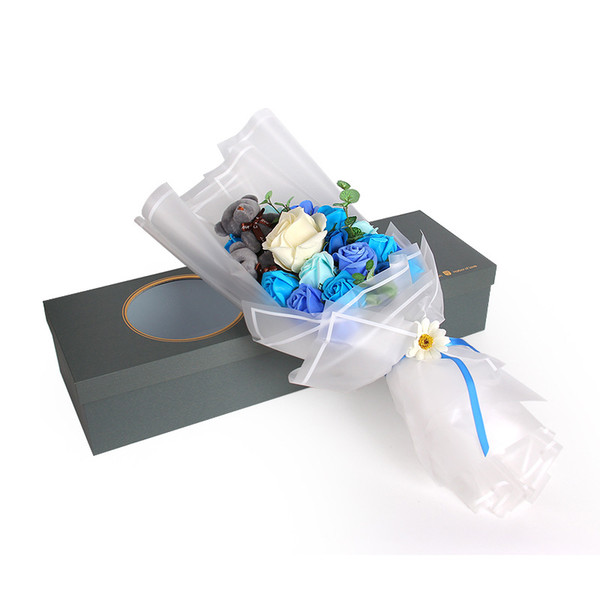 Gift Decoration Wrap Crafts paper Half Clear Waterproof Flower Wrapping Paper Floral Bouquet Packaging Materials 300sheet