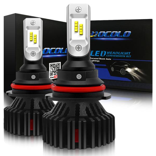 HOCOLO 9007 HB5 Kit de conversion ampoules de phares à LED, blanc xénon 8000LM 6000K - Phare très basse / double faisceau - 1 an de garantie